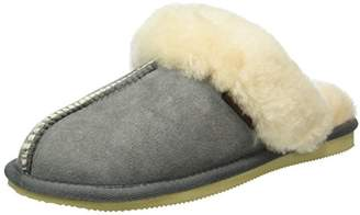 Gabor Home Women S002 Warm Lined Slippers Grey Size: 4 UK