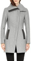 Soia & Kyo Women's 'Jana' Asymmetrical Wool Blend Coat