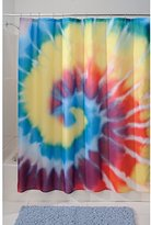 "InterDesign Tie Dye Fabric Shower Curtain - 72"" x 72"", Bright Multi-Color"