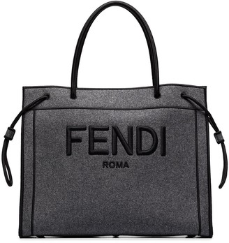 Fendi logo-embroidered tote bag