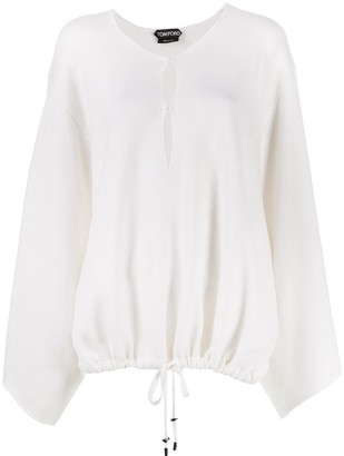 Tom Ford Knitted Drawstring Blouse