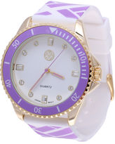 Macbeth Womens Purple and White Silicone Watch