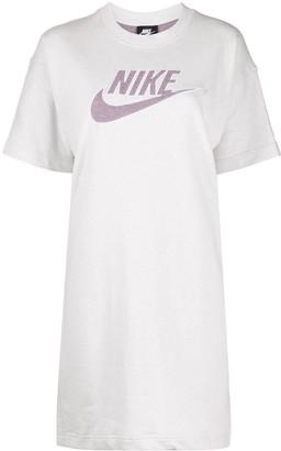 Nike logo print T-shirt dress