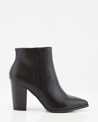 Le Château Faux Leather Pointy Toe Ankle Boot