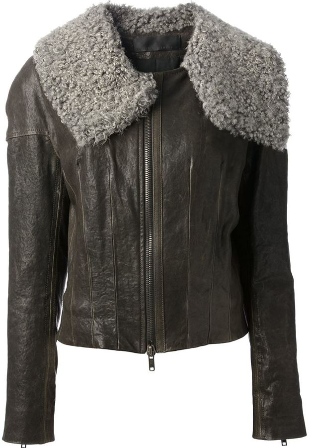 Haider Ackermann leather jacket