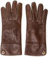 Loro Piana Leather Logo Gloves