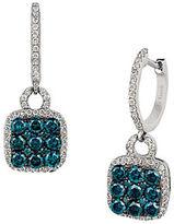 LeVian Exotics Vanila Diamond, Blueberry Diamond and 14K Vanilla Gold Drop Earrings