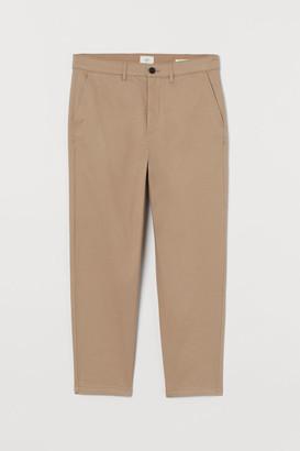 H&M Slim Fit Cropped Chinos - Beige