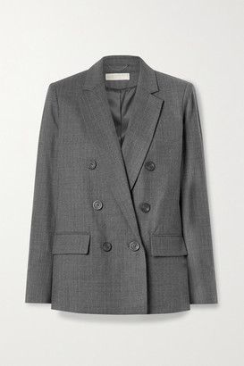 MICHAEL Michael Kors Double-breasted Wool-blend Blazer - Gray