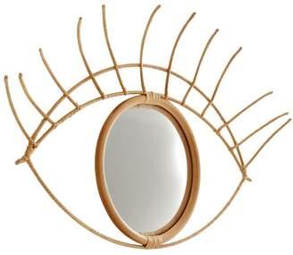 Pottery Barn Teen Eye Mirror, Natural