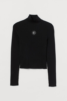 H&M Fitted Mock-turtleneck Sweater