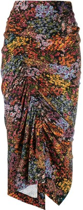 Preen by Thornton Bregazzi Aaliyah floral draped skirt