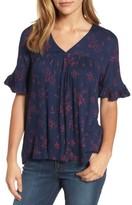 Lucky Brand Women's Ruffle Sleeve Top