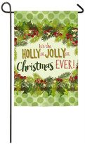 "Evergreen Christmas"" Indoor / Outdoor Garden Flag"