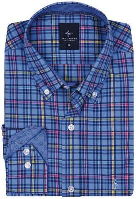 Tailorbyrd Big Boys Peri Blue Multi Plaid Button-Down Shirt