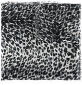 Saint Laurent baby cat printed scarf - women - Silk/Cashmere - One Size