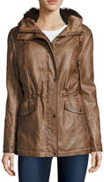 Asstd National Brand Mo-Ka Long-Sleeve Faux-Leather Anorak Jacket