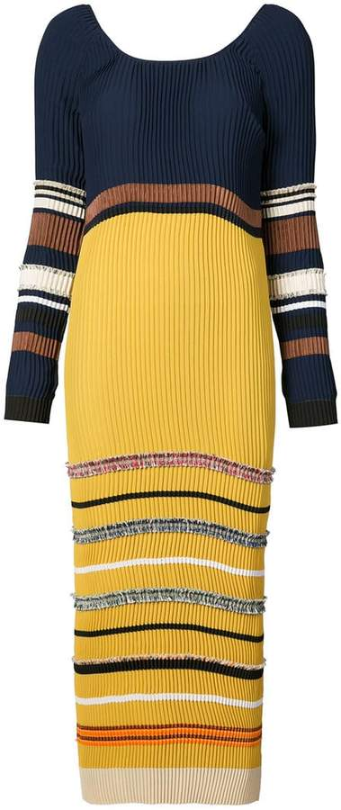 Derek Lam Long Sleeve Scoopneck Dress