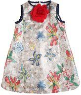Simonetta Floral Stretch Lurex Fil Coupé Dress
