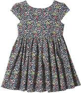 Joe Fresh Toddler Girls' Floral Dress, JF Midnight Blue (Size 5)