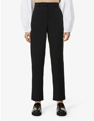 Sessun Slim-leg high-rise stretch-woven trousers