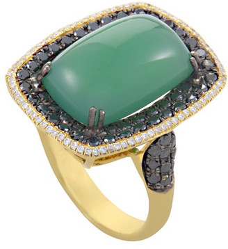 French Collection 18K 1.06 Ct. Tw. Diamond & Agate Ring