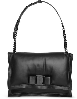 Salvatore Ferragamo Viva bow bag black