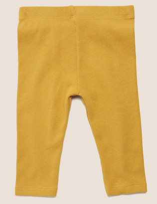 Marks and Spencer Cotton Ribbed Leggings (0-3 Yrs)