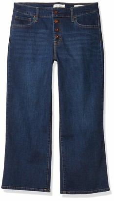 Jessica Simpson Women's Misses Adored High Rise Wide Crop Jean