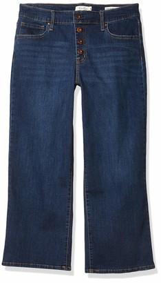 Jessica Simpson Women's Plus Size Adored High Rise Wide Crop Jean