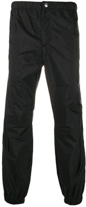 panelled tapered trousers