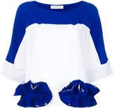 Capucci ruffle-appliquéd colour-block T-shirt