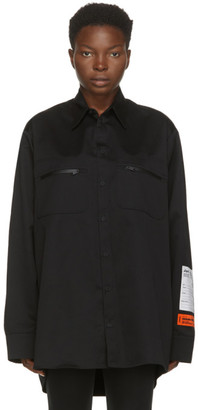 Heron Preston Black Outdoor Shirt Dress