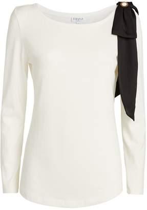Claudie Pierlot Bow Embellished T-Shirt