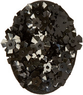 Simone Rocha Black Beaded Cluster Brooch