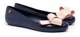 Melissa Space Love Contrast Ribbon Bow Navy Flats