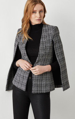 BCBGMAXAZRIA Tweed Cape Jacket
