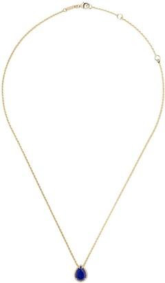 Boucheron 18kt yellow gold Serpent Boheme lapis lazuli S motif teardrop pendant necklace