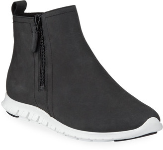 Cole Haan Zerogrand Waterproof Zip Booties, Black