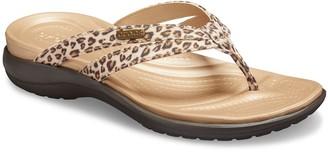 Crocs Capri Women's Leopard Print Strappy Sandals