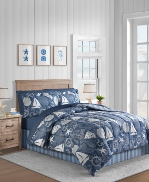 Fairfield Square Collection Seashell 8-Pc. Queen Comforter Set Bedding