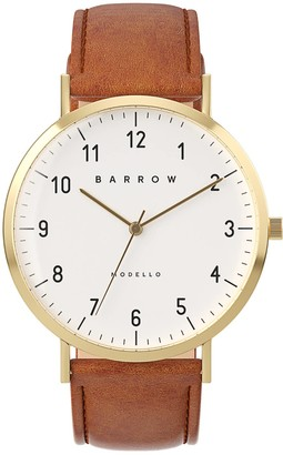 Barrow Modello Watch With Gold Mesh Strap & Tan Leather Strap