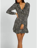 Missguided Dotted satin dress