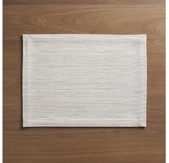 Crate & Barrel Grasscloth White Placemat