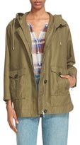 Joie 'Camea' Hooded Twill Utility Jacket