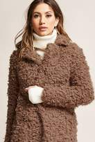Forever 21 Free Generation Curly Faux Fur Coat