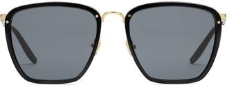 Gucci Square acetate and metal sunglasses