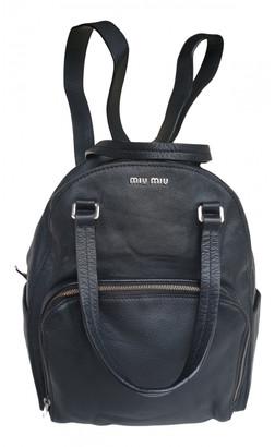Miu Miu Black Leather Backpacks