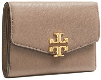 Tory Burch Kira Mixed-Materials Medium Flap Wallet
