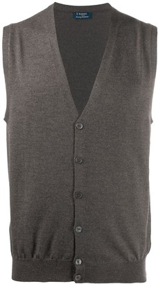 Barba Rib-Trimmed Knitted Vest